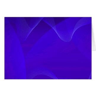 O azul acena I Cartão Comemorativo