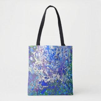 O azul borbulha o bolsa