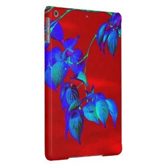 O azul-céu vermelho sae da caixa do ar do iPad Capa Para iPad Air