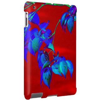 O azul-céu vermelho sae do caso do iPad Capa Para iPad