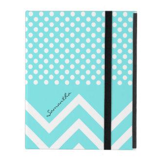 O azul de turquesa bonito modela o caso feito sob iPad capas