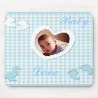 O azul do bebé verifica o modelo da foto mouse pad
