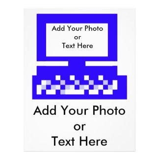 O azul do computador das imagens da série do artis panfleto