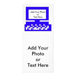 O azul do computador das imagens da série do artis 10.16 x 22.86cm panfleto