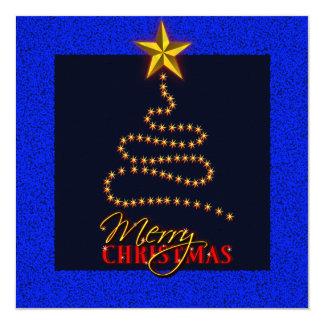 O azul do Natal e o convite de festas do ouro