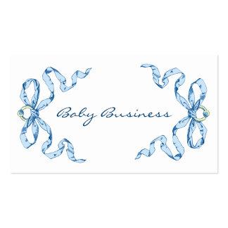 O azul do negócio do bebê curva cartões de visitas