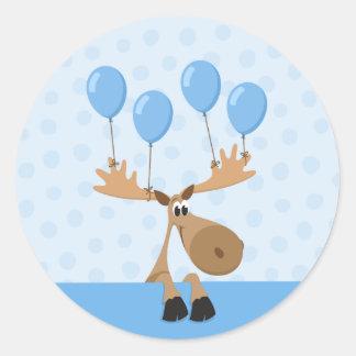 O azul dos alces balloons o selo/etiqueta do adesivo