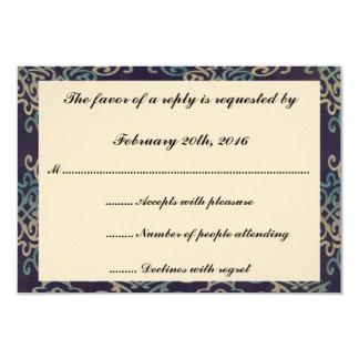 O azul e o branco barram Mitzvah/cartão do Convite 8.89 X 12.7cm