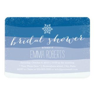 O azul elegante do floco de neve protege o chá de convites personalizados