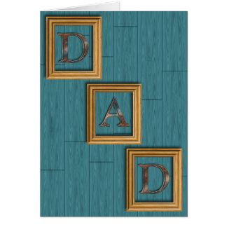 O azul embarca o cartão do dia dos pais