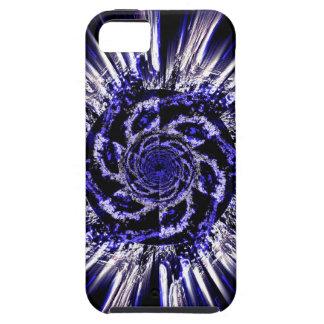 O azul espirala caso resistente do iPhone 5/5S Capas Para iPhone 5