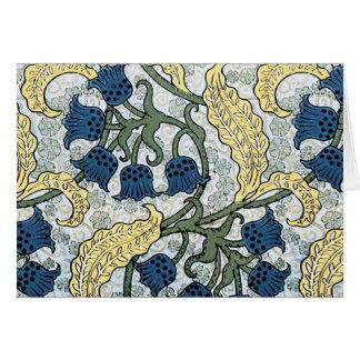 O azul floral floresce o lírio do vale cartão comemorativo
