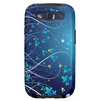 O azul floresce a caixa da galáxia S3 de Samsung Capinhas Samsung Galaxy S3
