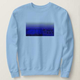 O azul floresce a camisa de T