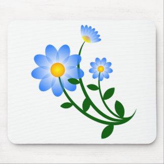 O azul floresce o mousepad