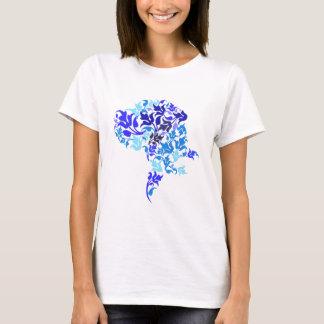 O azul folheia great dane camiseta