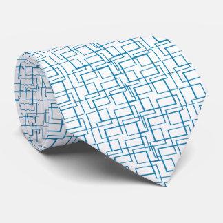 O azul molda o laço II branco geométrico Gravata