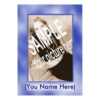 O azul nubla-se o cartão dos comp(s) cartão de visita grande