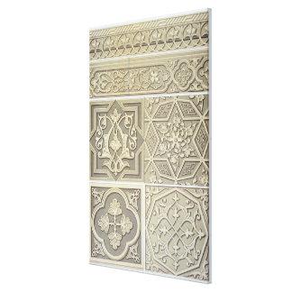 O azulejo árabe projeta (o litho da cor) impressão em tela