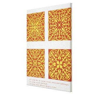 O azulejo do século XIII projeta, ilustração 'das  Impressão Em Tela