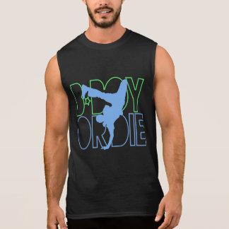 O B-Menino ou morre silhueta Camisetas Sem Manga