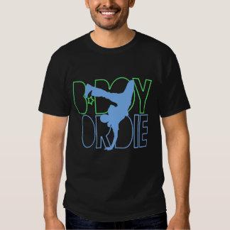 O B-Menino ou morre silhueta Tshirts