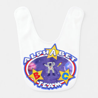 O babador da equipe do alfabeto