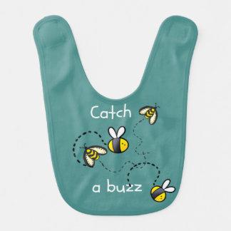 O babador do bebê Bumble as abelhas do design da