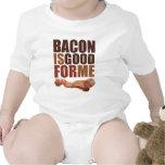 O bacon é bom para mim macacãozinhos para bebê