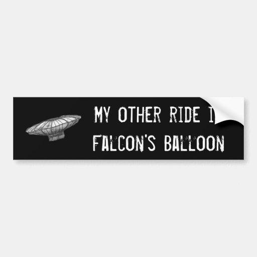 O balão do falcão adesivos