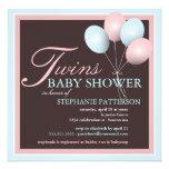 O balão elegante do bebê junta o convite do chá de