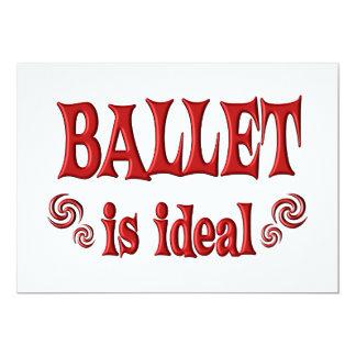 O balé é ideal convite 12.7 x 17.78cm