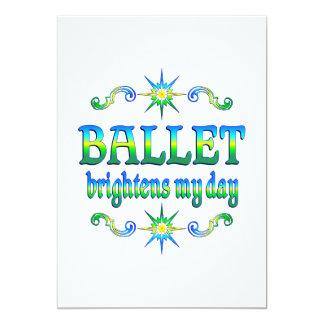O balé ilumina convite 12.7 x 17.78cm