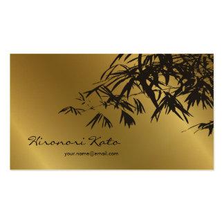 O bambu sae do ouro + Cartão de visita preto do co