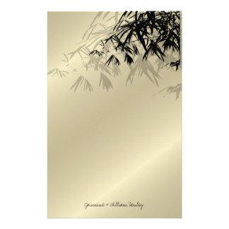 O bambu sae silhueta de artigos de papelaria