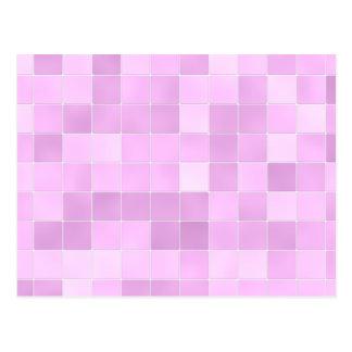 O banheiro telha o rosa cartão postal