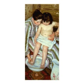 O banho da criança de Mary Cassatt (cerca de 1892) 10.16 X 22.86cm Panfleto