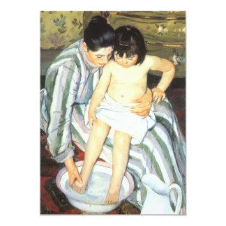 O banho por Mary Cassatt, belas artes da criança Convites Personalizados