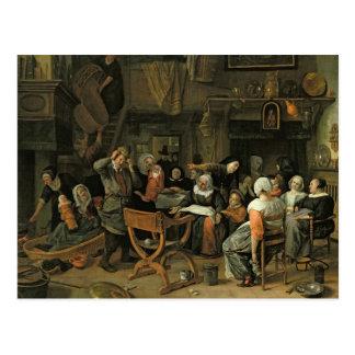 O banquete do batismo, 1668 cartao postal
