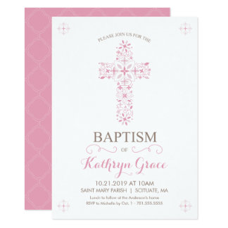 O baptismo, batismo Invitatio, bebés convida Convite 11.30 X 15.87cm