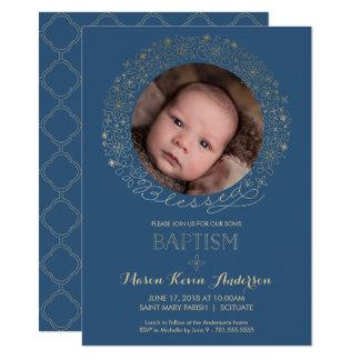 O baptismo, convite da foto do batismo, meninos