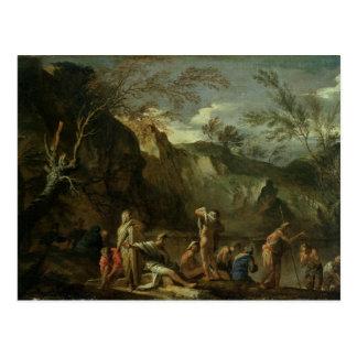 O baptismo do cristo cartão postal