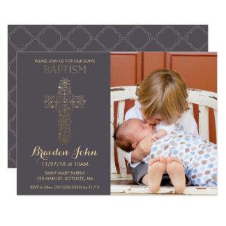O baptismo do menino, convite do batismo, foto,