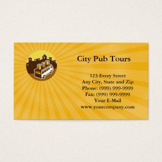 O bar da cidade visita o cartão de visita