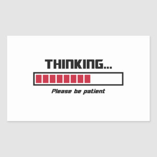 O bar de carga de pensamento seja por favor adesivo retangular