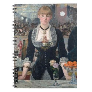 O bar de Edouard Manet um no Folies-Bergère Cadernos Espiral