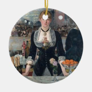 O bar de Edouard Manet um no Folies-Bergère Ornamento De Cerâmica