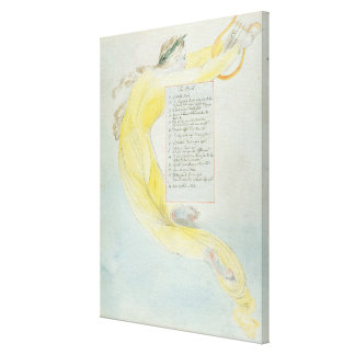 """""""O bardo"""", projeta 52 """"dos poemas de Thomas GR Impressão Em Tela"""