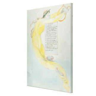 """""""O bardo"""", projeta 52 """"dos poemas de Thomas GR Impressão De Canvas Envolvidas"""