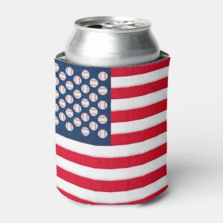 O basebol & a bandeira americana podem
